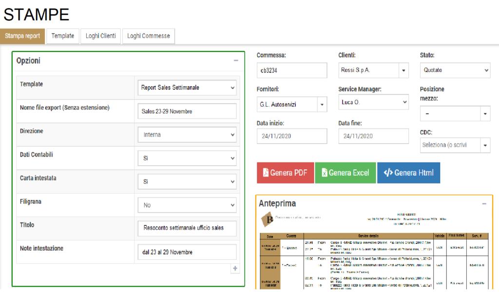 Generazione automatizzata di report e documenti.